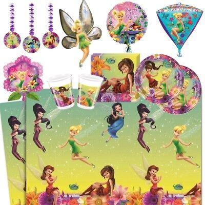 y Zubehör Geschirr, Dekorationen & Luftballons (Tinkerbell Zubehör)