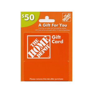 Home depot card 50$- for 30