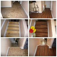 Flooring Installation, Hardwood and Laminate