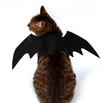 Dog Cat Pets Black Bat Wings Cosplay Wings Costume Party Halloween Decor