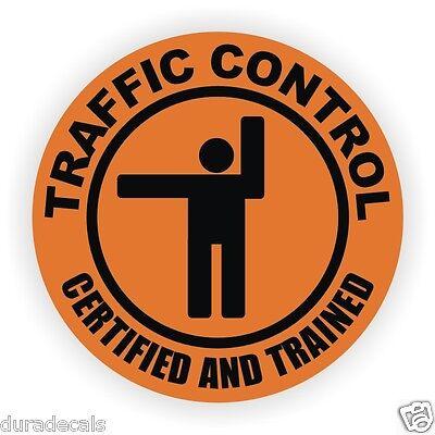 Traffic Control Hard Hat Decal Helmet Sticker Flagger Safety Label Laborer