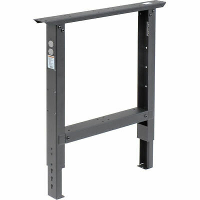 C-channel Adjustable Height Leg 29 To 35 H - For 36 D Workbench 1 Leg Black