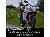 Keeway RKR 125cc Full Fairing Sports Bike Leaner Legal Geared Motorcycle