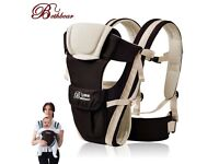 Brand New Newborn Infant Baby Boy Carrier Breathable Ergonomic Adjustable Wrap Sling KHAKI