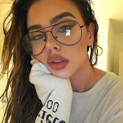 Plain Glass Spectacles (Clear Lens Glasses Metal Plain Glass Spectacles Frame Glasses Vintage)