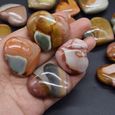 Natural Heart Shaped Energy Stone Sea Stone Ancient Rock Specimen Healing