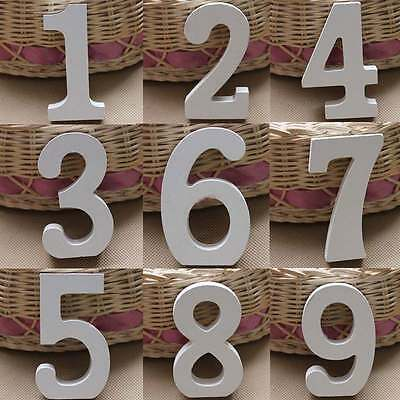 0 9 Wooden Digits Arabic Numbers Free Standing Wedding Home Wall Ornament