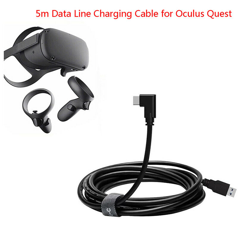 1× 5M 3.0 Data Line Charging Cable for Oculus Quest Link VR Headset USB Data WSH