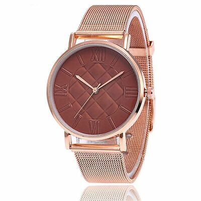 Rose Gold Women Watch Stainless Steel Wristwatch Female Top Fashion Modern