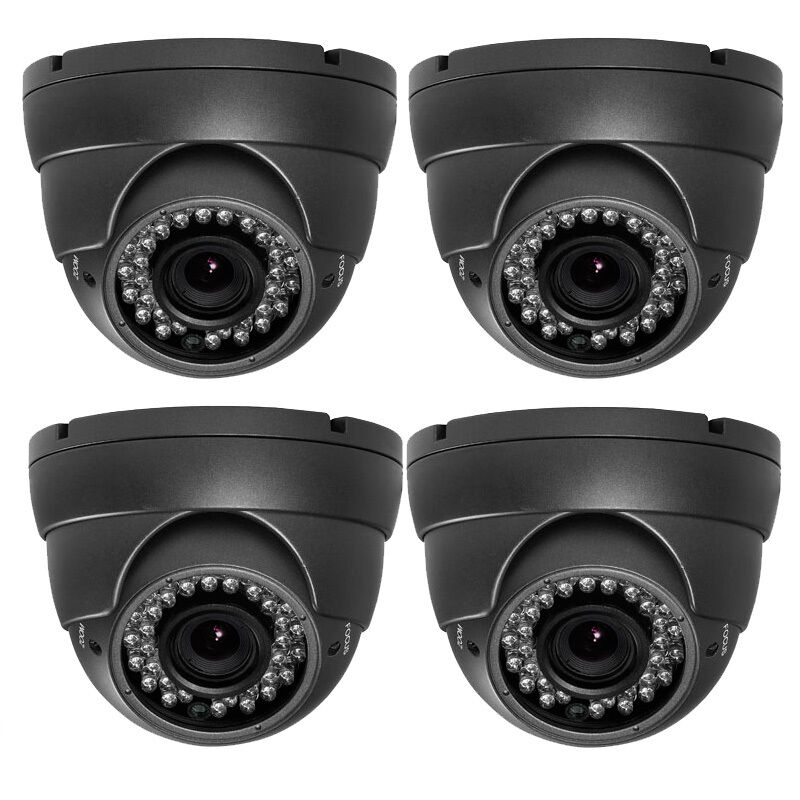 1800tvl Sony Cmos Ccd 521 Night 36ir Leds 2.8-12mm Lens Security Camera Dvr 4pcs