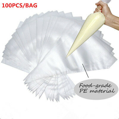 JPSOE 100pcs plastic pastry Piping Bag Disposable Icing Cake Decorating Bags e4c19704adec