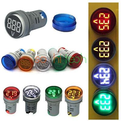 22mm Ac 60-500v Led Voltmeter Voltage Meter Indicator Pilot Light Tester