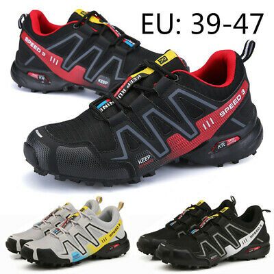 Mens Outdoor Hiking Shoes Tourism Boots Climbing Mountain Sport Walking Sneakers
