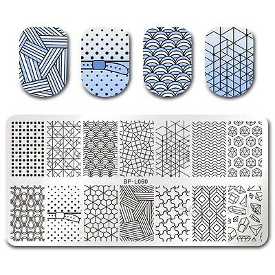 BORN PRETTY Nail Art Stamp Plate Manicure Template Geometrical Figure  BPL-60