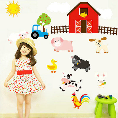Farm Home Decor (Farm Designed Baby Bedroom Kitchen Livingroom Home Decor Wall Stickers)