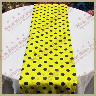 Yellow Table Runners (Table Runners  Polka Dot 1