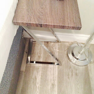 modern side table- excellent condition 6 months old