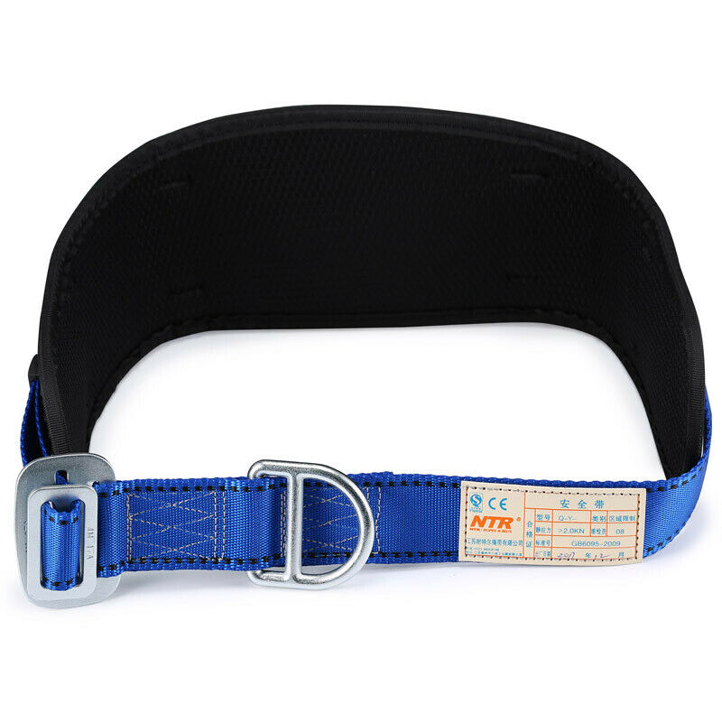Body Belt w/ Waist Pad Side D-Rings Protective Equipment Safety Climbing Harness