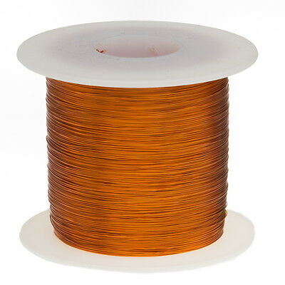 "36 AWG Gauge Enameled Copper Magnet Wire 1.0 lbs 12772' Length 0.0055"" 200C Nat"