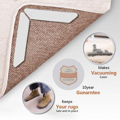 Eine Packung mit 8 Stück Anti Curling Teppich Griffe Non Slip Teppich Pads