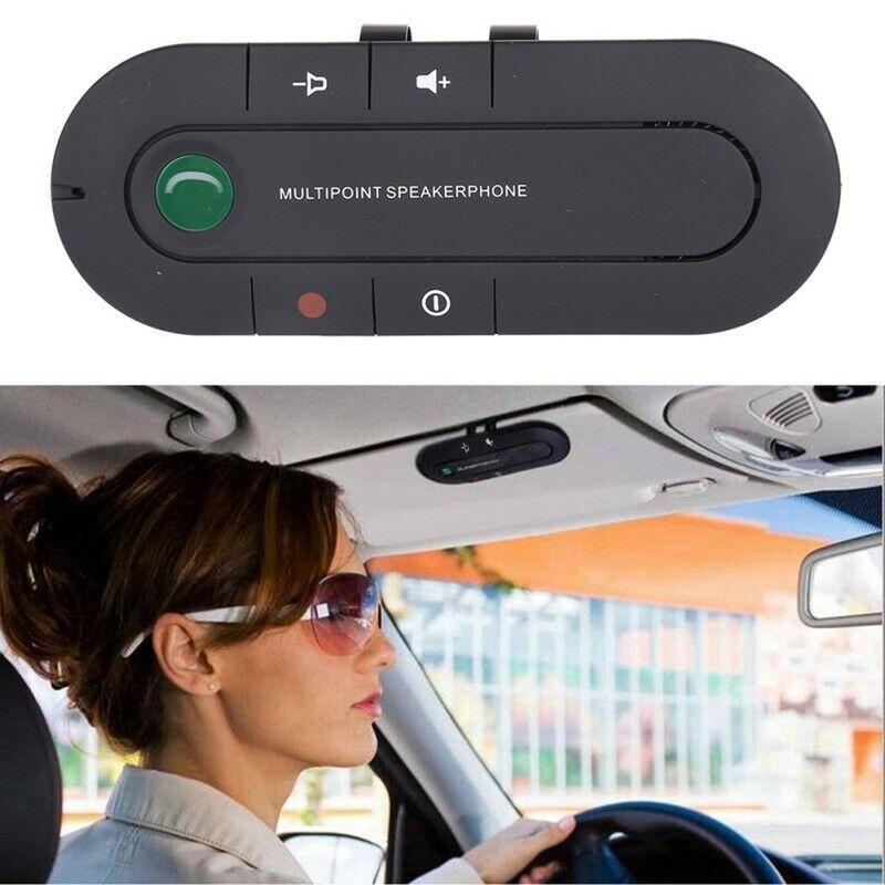 Handsfree Wireless Bluetooth Car Kit Speakerphone Speaker Phone Visor Clip USB