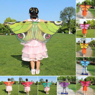 Schmetterlingsflügel Schal Halstücher Nymphe Pixie Poncho Kostüm Für - Schmetterling Flügel Kostüme Kinder