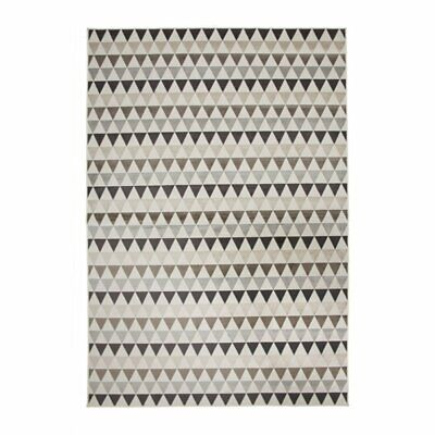 Abacasa Sonoma Brentwood Ivory-Charcoal-Brown 5x8 Area Rug