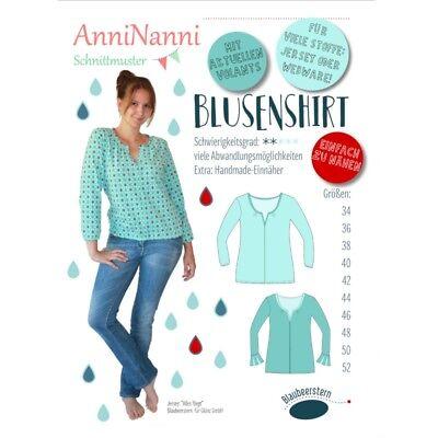 131061a88f Schnittmuster AnniNanni Blusenshirt in den Größen 34 bis 52 Shirt Bluse