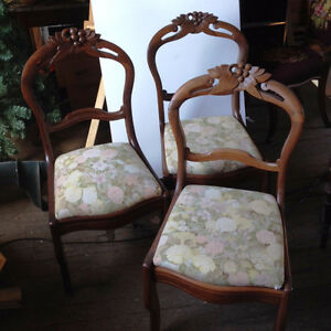 Set of three heirloom chairs