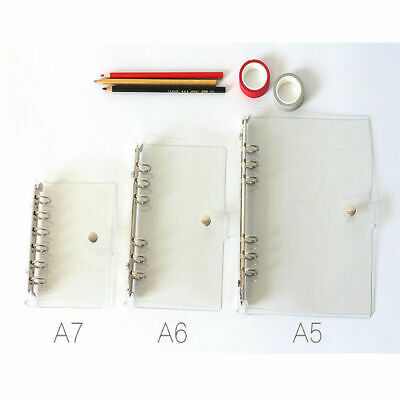 A5a6a7 Transparent Pvc Cover Loose Leaf Ring Binder File Folder With Button