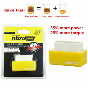 Car Nitro OBD2 Performance Tuning Chip Box For Gas/Petrol Vehicles Plug & Drive