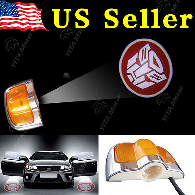 2x Car Welcome Door Led Laser Projector Logo Ghost Shadow Light-Transformers US