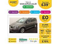 Volkswagen Touran 2.0TDI FROM £39 PER WEEK!