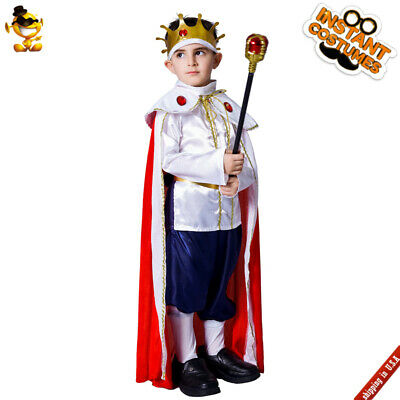 Kings Costume For Kids (Kids King Boys Deluxe Prince Costume For Children Royal Halloween)