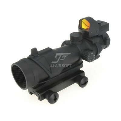 ACOG 4x32 Rifle Scope Red/Green Reticle Illumination & Mini Red Dot & Killflash
