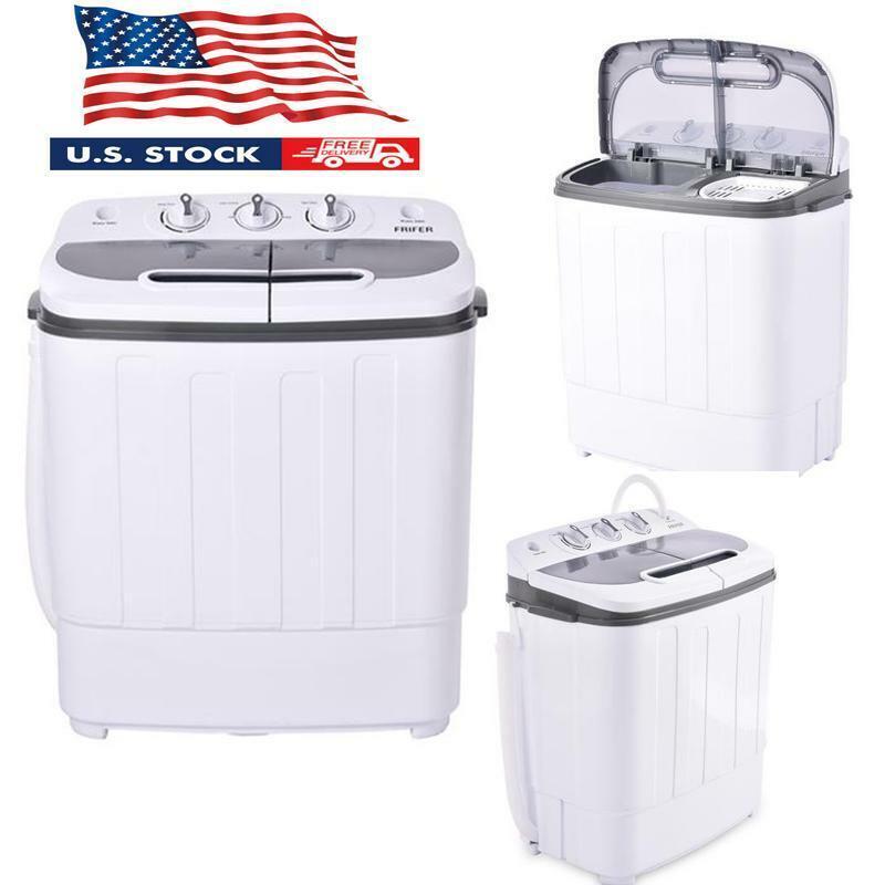 13LBS Portable Washing Machine Mini Compact Twin Tub Laundry