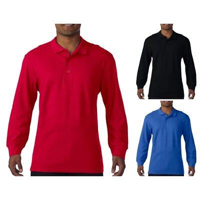 Gildan: Herren Poloshirt, langarm, * Premium Double Piqué 85900 NEU ()
