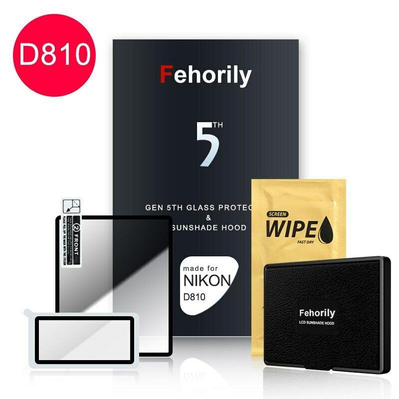 Fehorily Gen 5TH Glass Protector & Sunshade Hood For Nikon D810