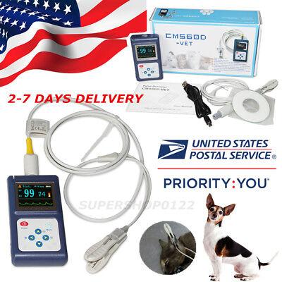 Veterinary Pulse Oximeter CMS60D-VET+Ear Tongue SpO2 Probe+PC Software USA STORE for sale  Elk Grove Village