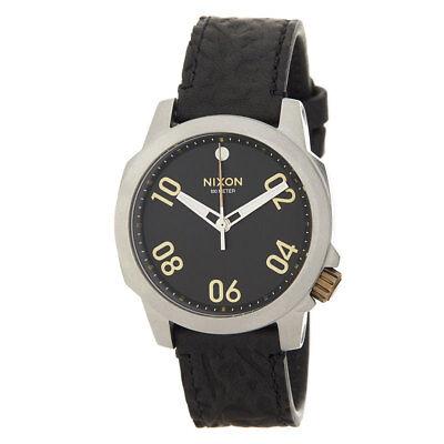 Nixon Men's A4712222 Ranger 40 Black Dial Black Leather Watch A471-2222