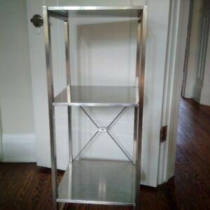 Ikea shelf 3 tier - steel colour