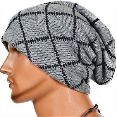 Mens Womens Knitted Crochet Slouch Beanie Hat Skateboard Skull Ski Cap Oversized Crochet Skull Cap Hat