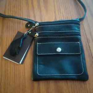 Roots Black Hanging Pouch Prince purse-NEVER USED-tags on London Ontario image 2