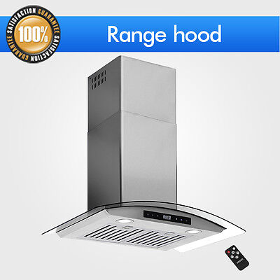 "Touch Steel Glass 30""Stainless Wall Mount Sensor Range Hood Remote Control Panel"