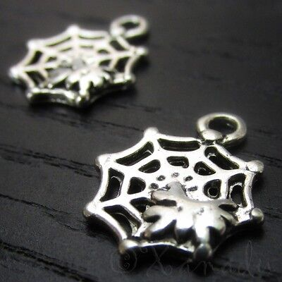 Cobweb Spiderweb Halloween Wholesale Charm Pendants C7166 - 10, 20 Or 50PCs - Halloween Charms Wholesale