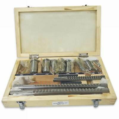 18pcs Keyway Broach Kit Metric Size Broaching Cutter 12-28mm Bushing Shim Set
