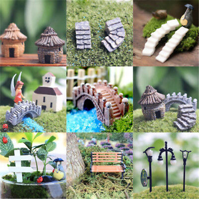 DIY Craft Miniature Fairy Garden Terrarium Figurine Ornament Bonsai Various Set