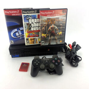 Sony Playstation 2 Console Bundle Games Controller Memory Card