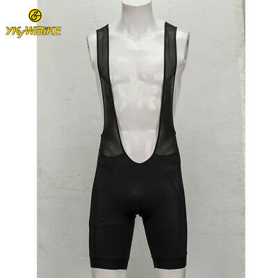 YKYWBIKE Black CYCLING BIB SHORTS Best Quality Italy Power band