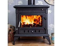 21kw back boiler stove with free 1 mtr flue pipe and free delivery multifuel multi fuel wod coal